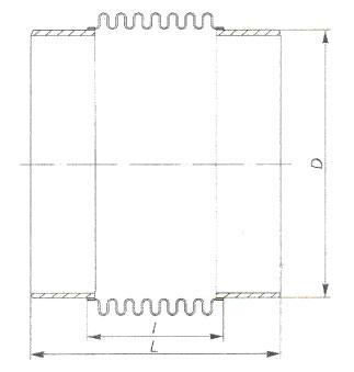схема осевого сильфонного компенсатора